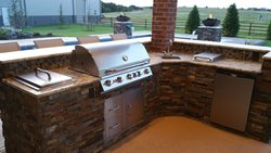 Outdoor Kitchen #005 by Amarillo Custom Pools